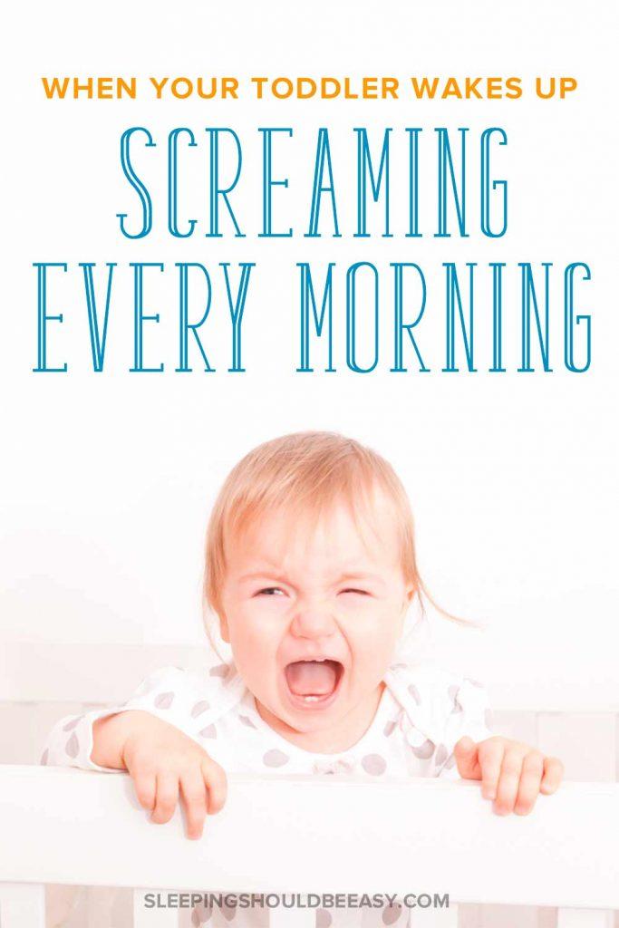 Toddler waking up screaming in her crib