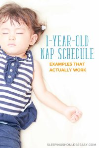 A toddler girl sleeping: 1 year old nap schedule: examples that actually work