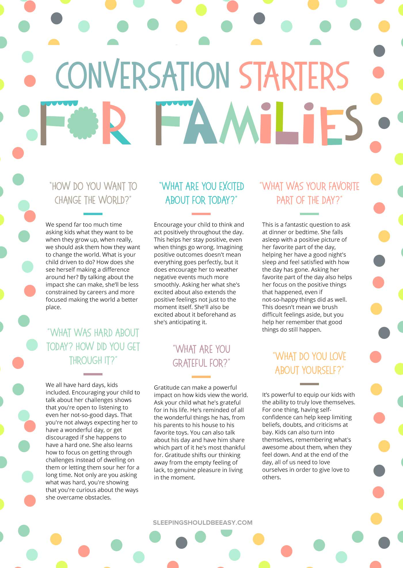 Conversation Starters for Families