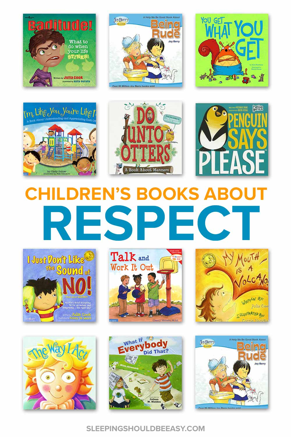 A collection of children's books about respect