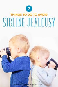 Two brothers drinking from cups: Tools to avoid sibling jealousy