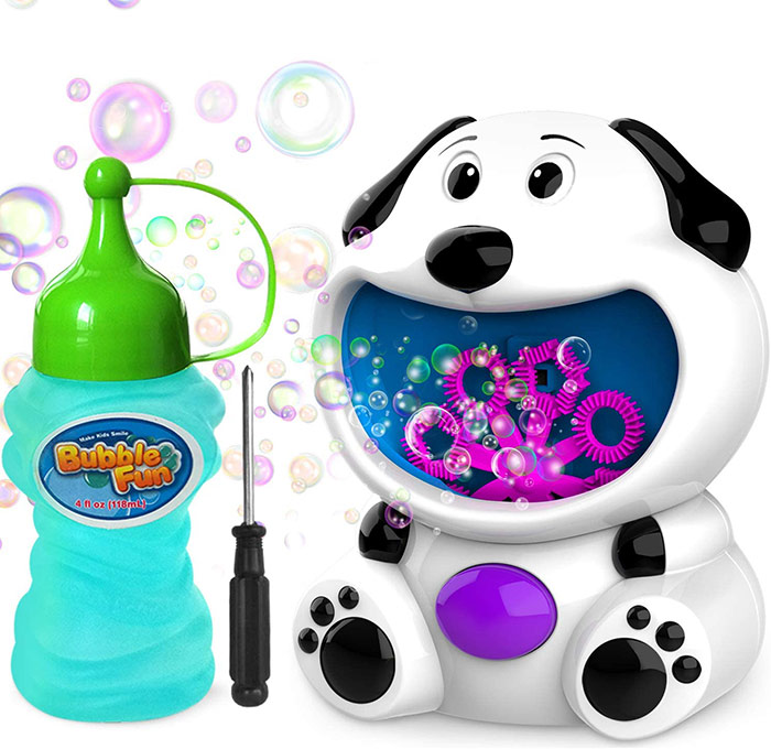Bubble Machine Dog Bubble Blower