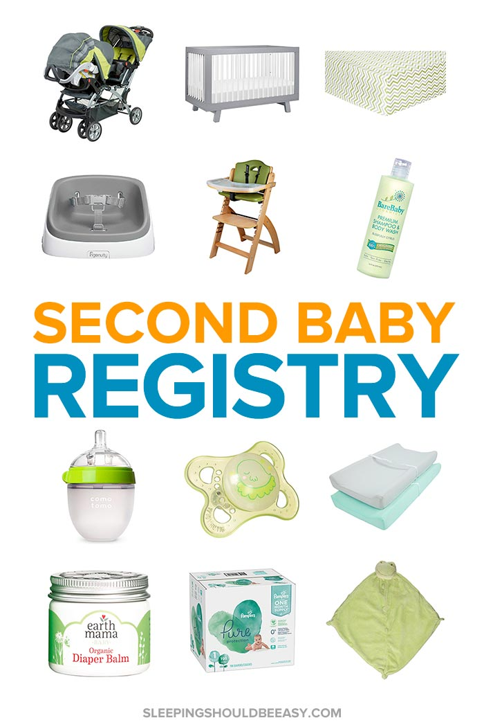 Items to include in your second baby registry