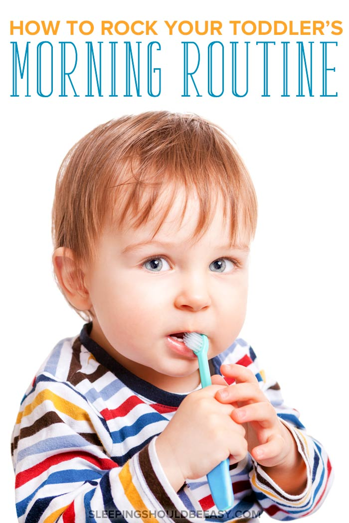 Morning routine for toddlers