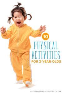 10 Physical Activities for 3 Year Olds: Little girl running and exercising
