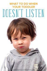 A little toddler not listening