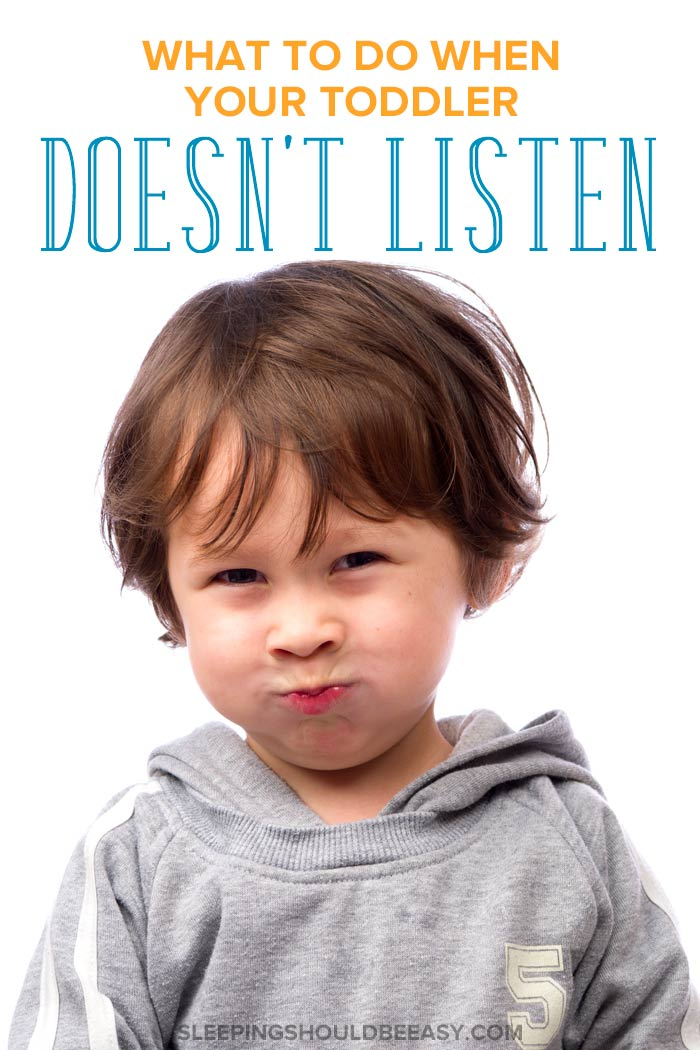 A little toddler not listening