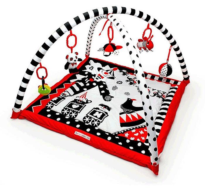 Black, White & Red Activity 3D Playmat