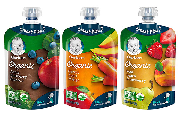Gerber Organic pureed food pouch