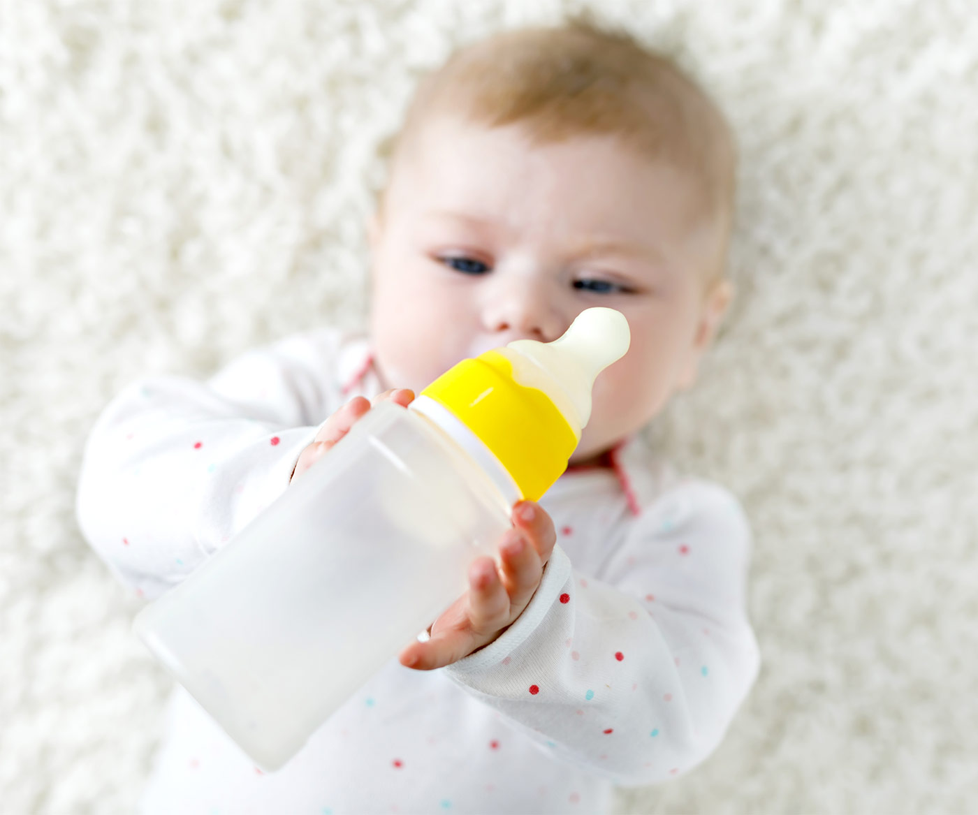 Baby goes on a bottle strike