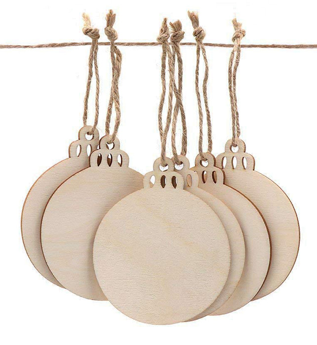 blank wooden ornaments