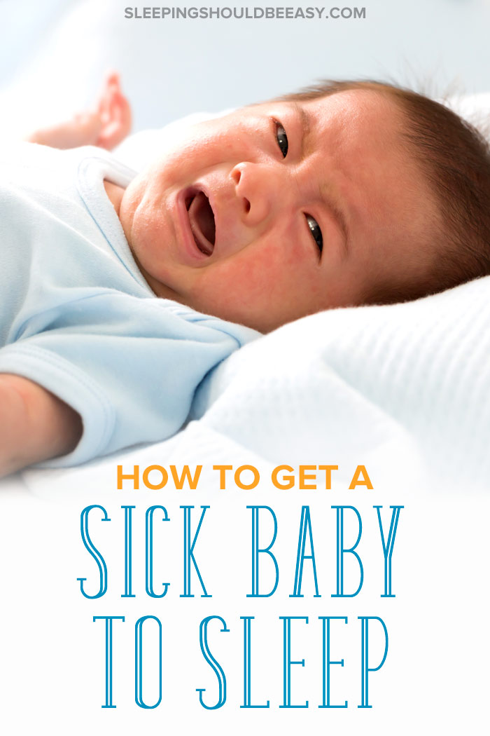 how to get a sick baby to sleep: little baby boy crying