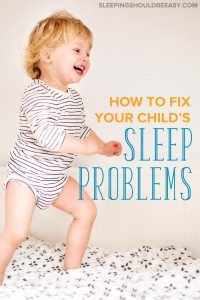 2 year old sleep problems: A little boy jumping on the bed