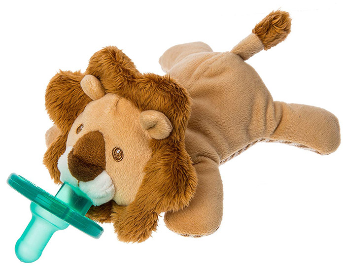 Lion WubbaNub Soft Toy and Infant Pacifier