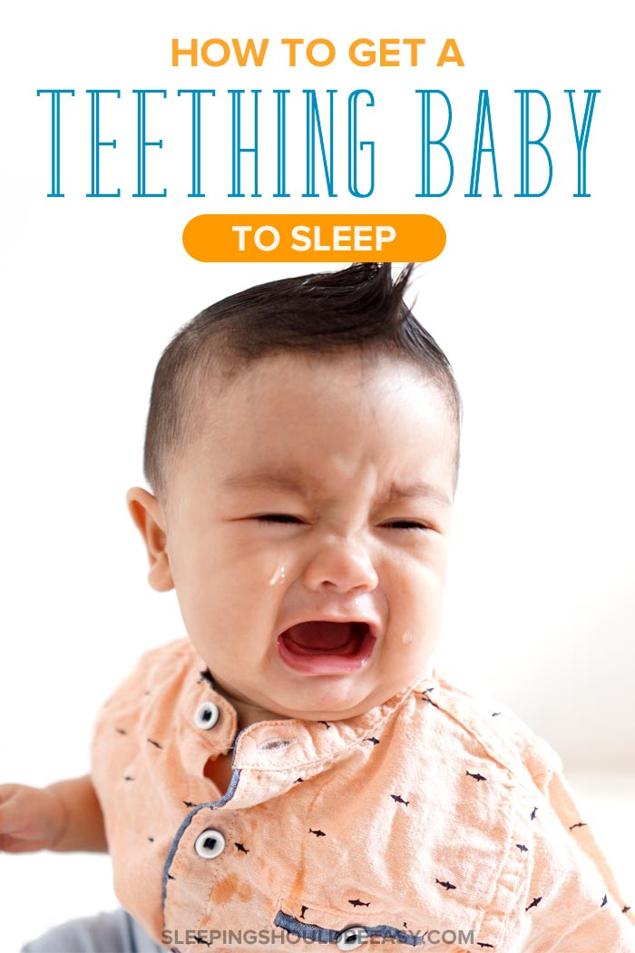 A fussy baby: how to get a teething baby to sleep
