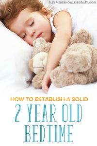 2 year old bedtime: a child sleeping in bed