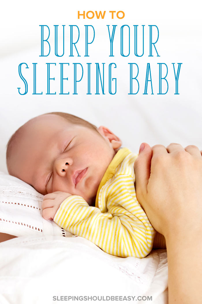 how to burp a sleeping baby