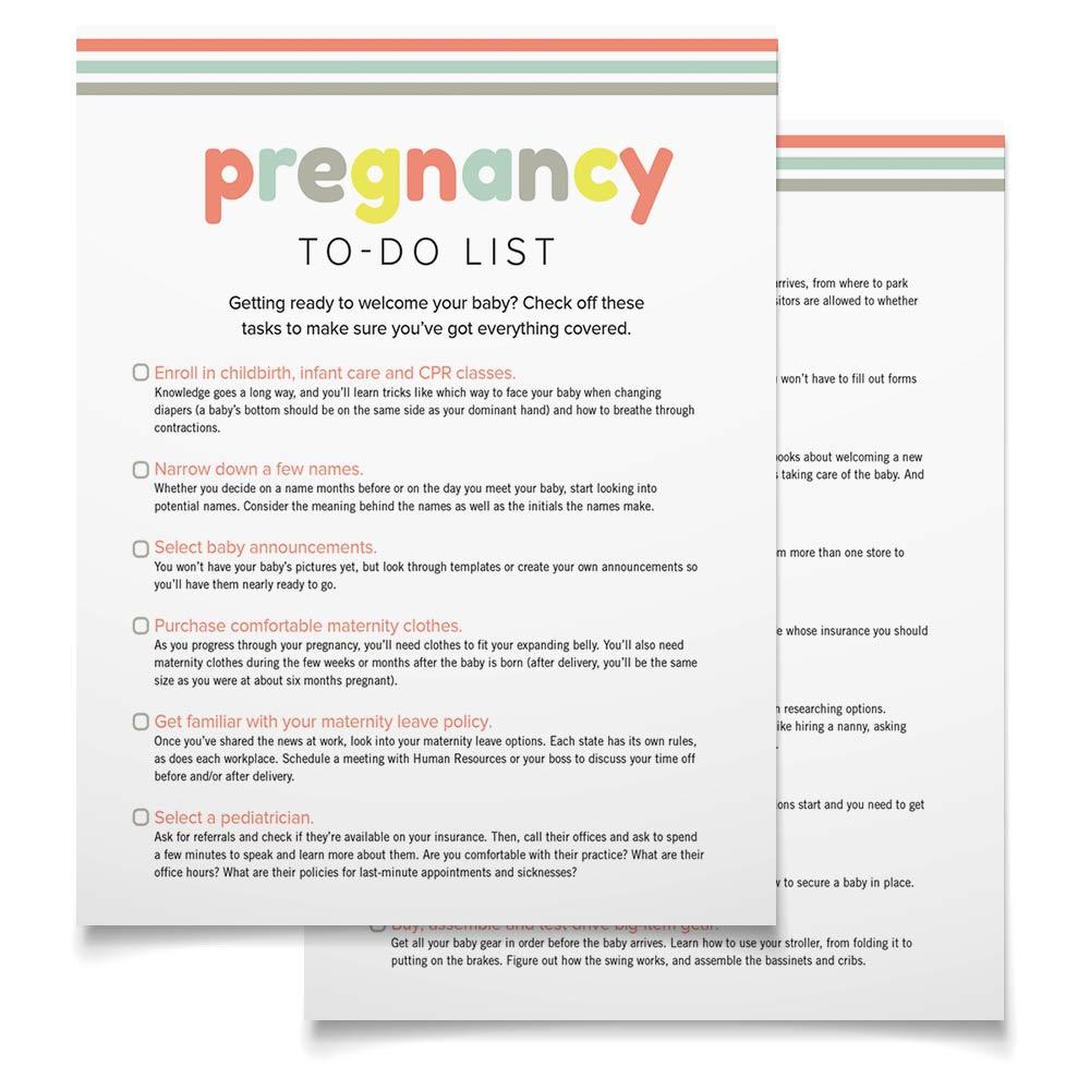 Pregnancy To Do List
