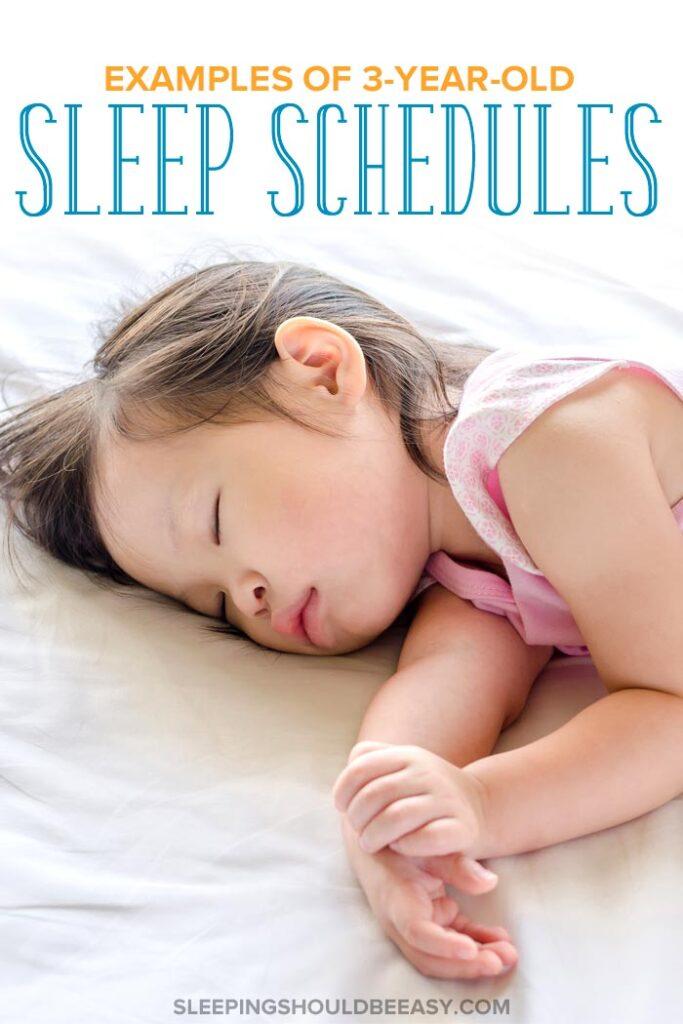 3 Year Old Sleep Schedule