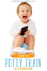 Little boy on a potty: how to potty train a toddler