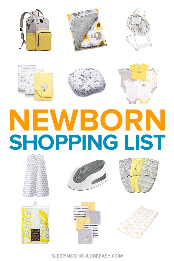 Pregnant woman packing baby clothes using a newborn shopping list