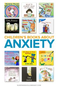 A collection of anxiety books for kids