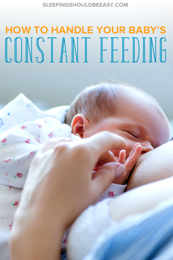 A newborn constantly feeding