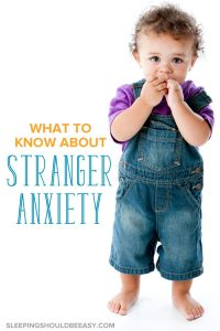 A timid little boy: stranger anxiety in toddlers
