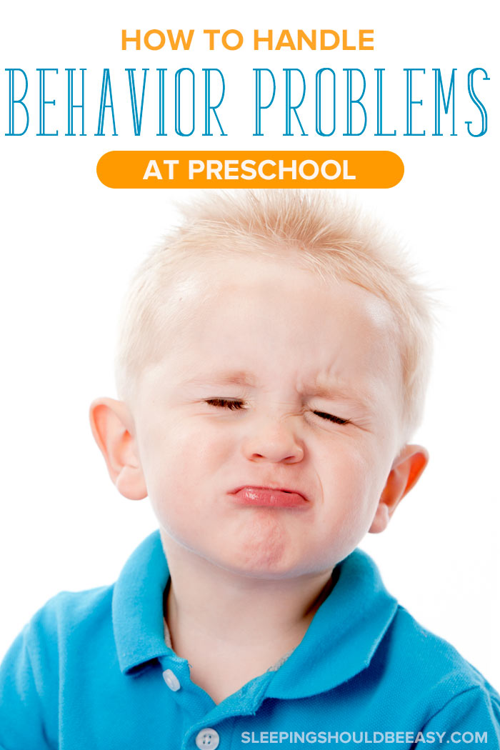 Little boy pouting from preschool behavior problems