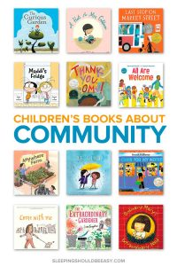 a collection of children's books about community