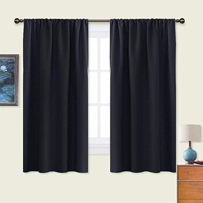 Darkening curtains