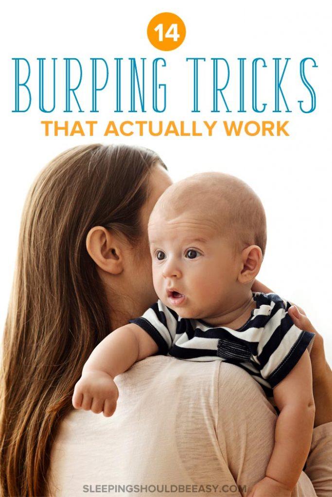 Mom doing baby burping tricks
