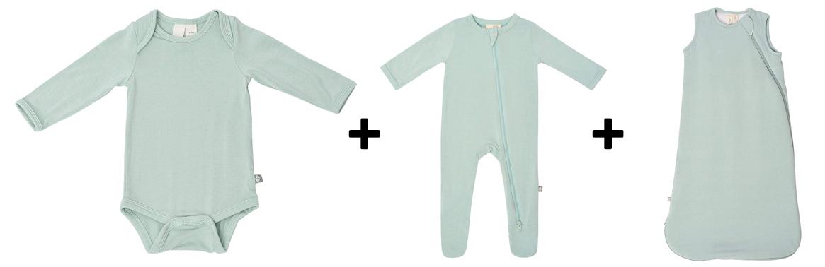 long sleeve, pajamas, and sleep bag