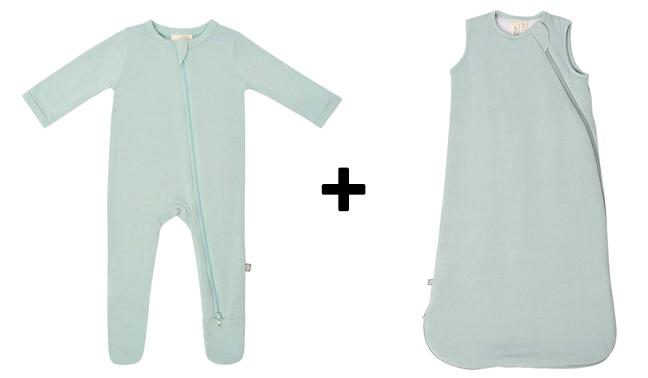 footed pajamas and sleep bag