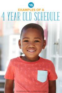 4 Year Old Schedule