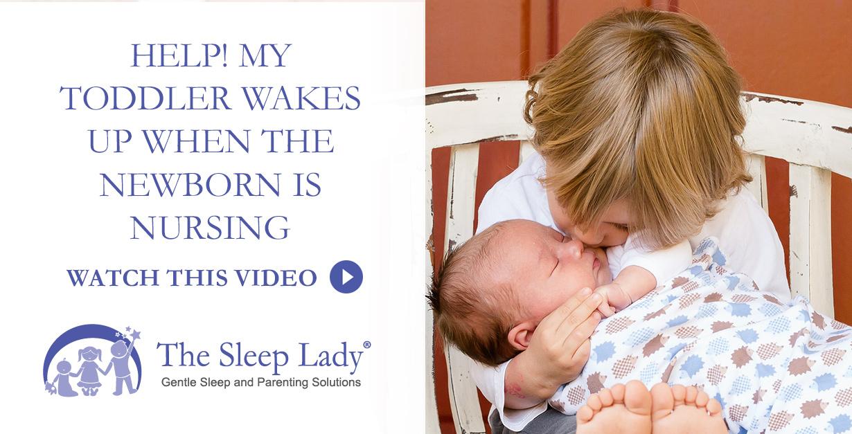 toddler wakes with newborn