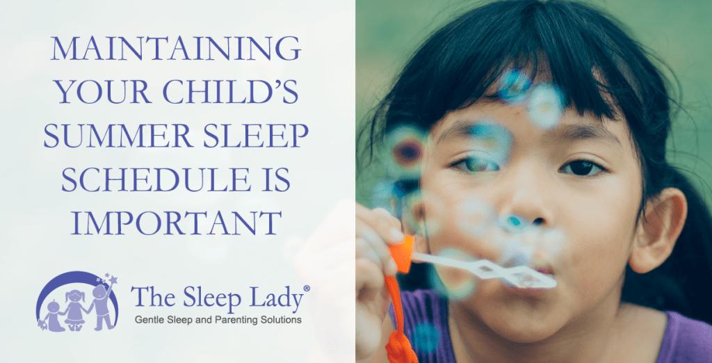 child's summer sleep schedule