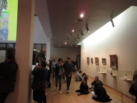 the Van Gogh museum, Friday evening