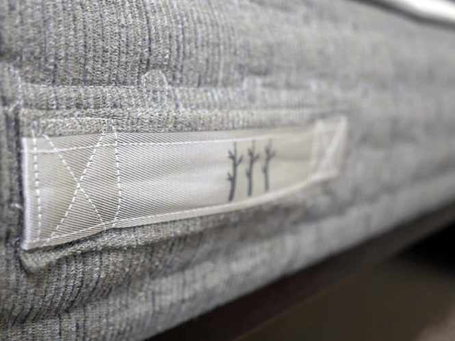 Ultra Close Up Shot Of The Handles Affixed To Cover Sierra Mattress