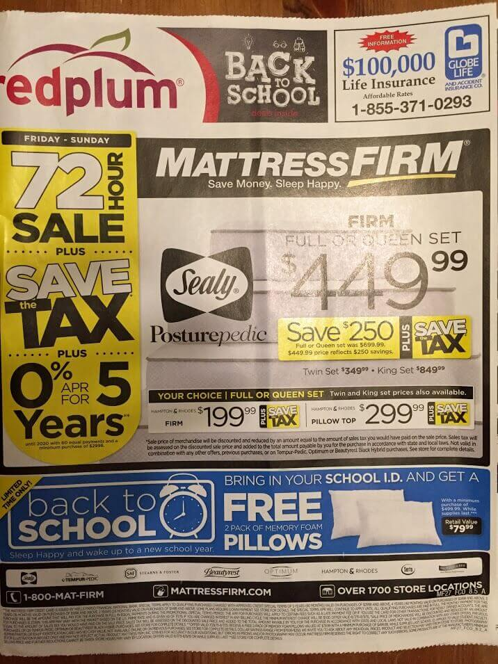 Labor Day Mattress Sale 2015  What s On Sale  mattress firm ad