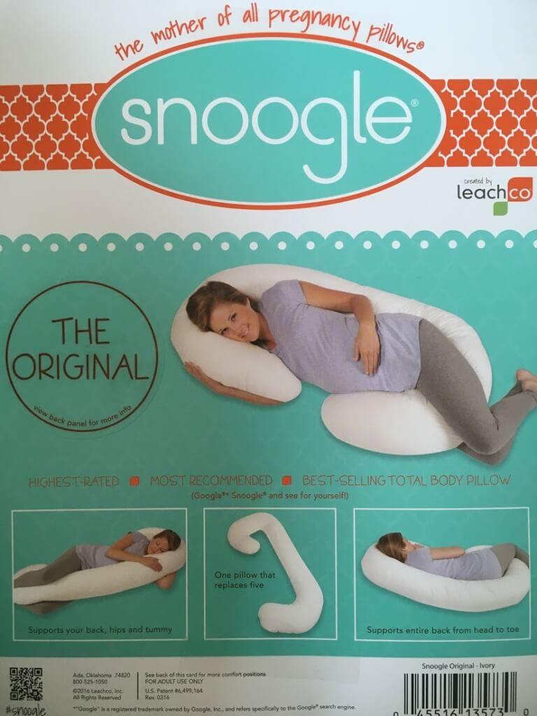snoogle body pillow by leachco