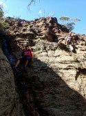 Avoiding an abseil via a Plately pagoda and a slippery chute