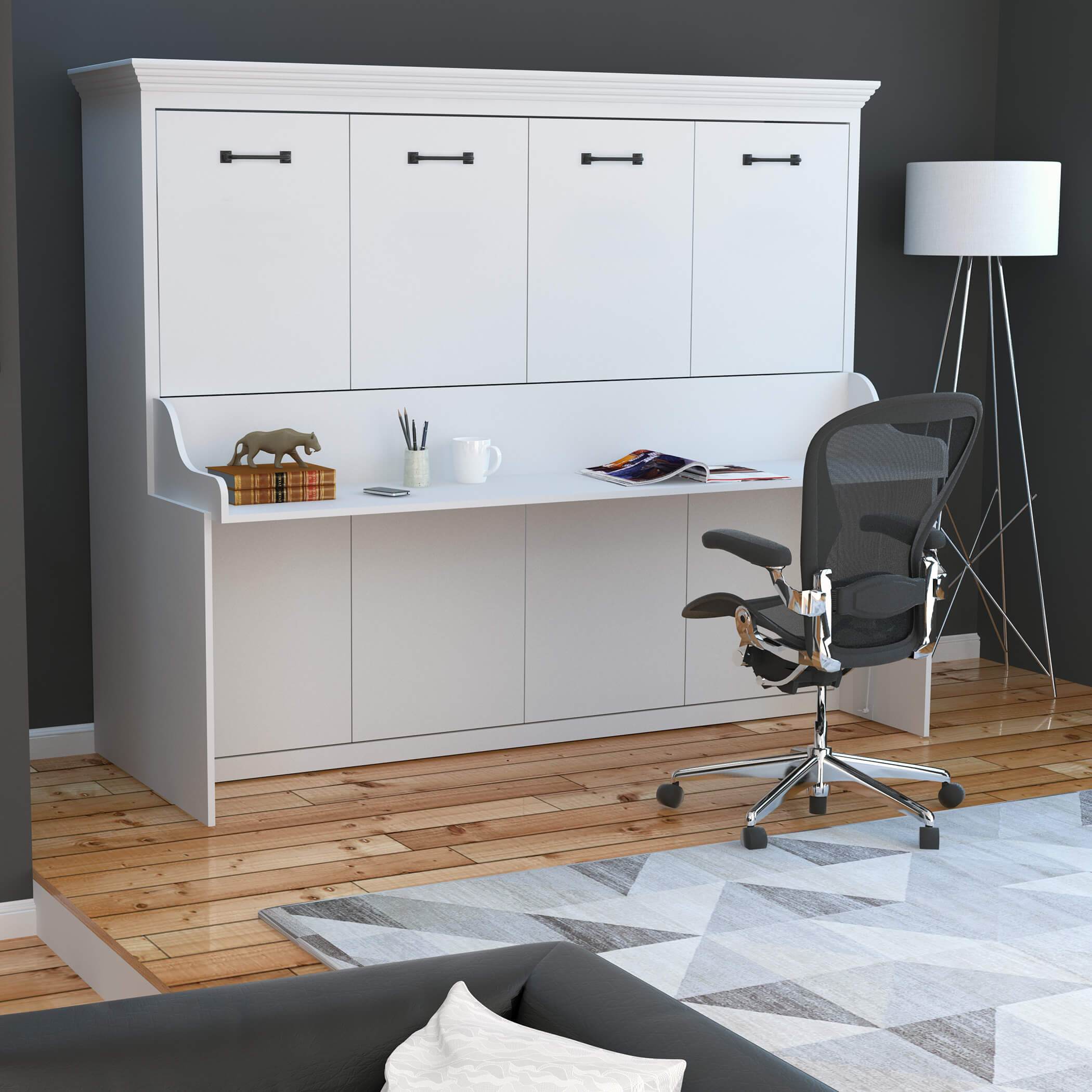 adonis horizontal murphy bed with desk
