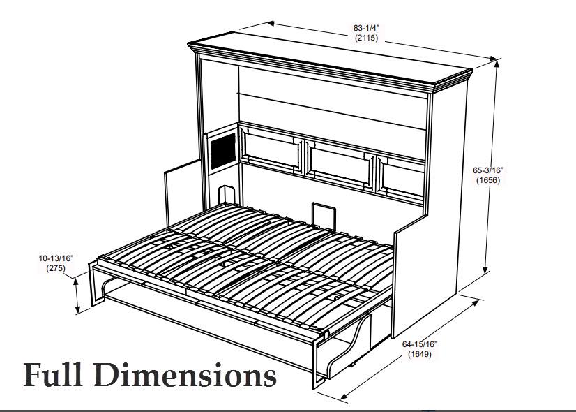 Adonis Landscape Wall Bed W Desk Combo White Sleepworks