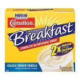 Nestle Carnation Instant Breakfast Classic French Vanilla 10 pk Nutritional Energy Drink 12.6 oz