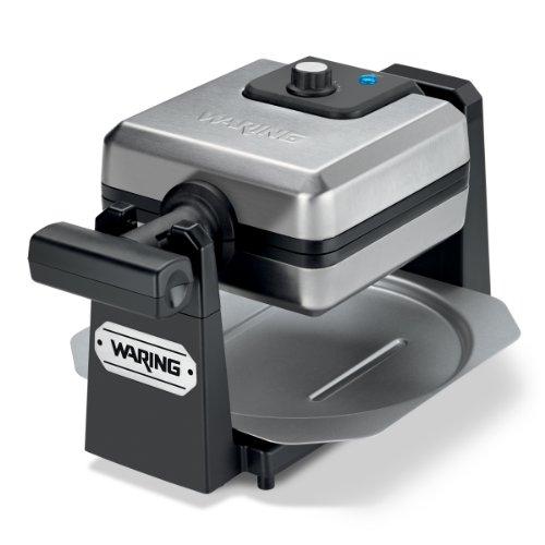 Waring Pro WMK250SQ 4-Slice Belgian Waffle Maker, Stainless Steel/Black