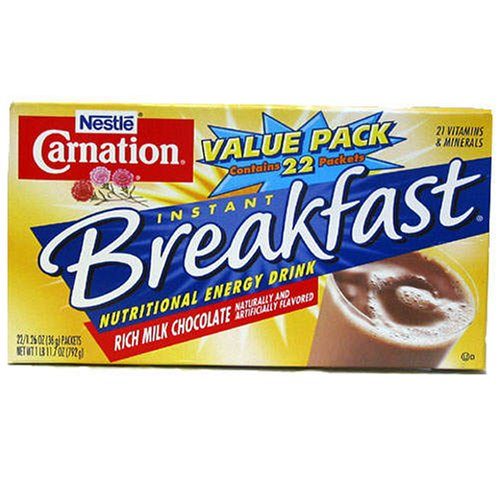 Nestle Carnation Instant Breakfast – 22 Packets /1.26 Oz Chocolate Flavor (22 Packets)
