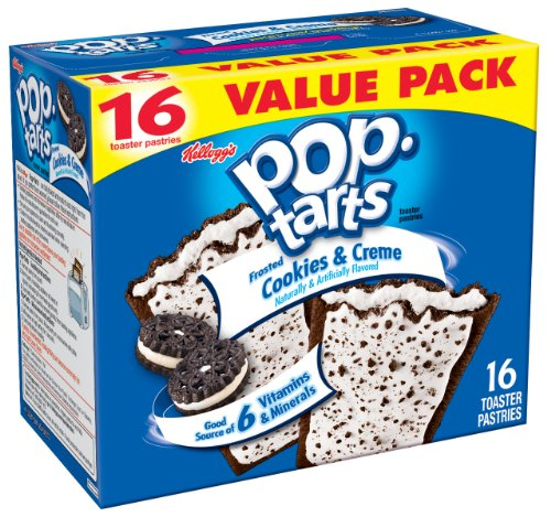 Pop-Tarts, Frosted Cookies & Creme, 16-Count Tarts (Pack of 8)