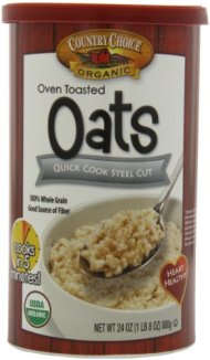 Country Choice Organic Quick Cook Steel Cut Oats, 24-Ounce Canisters (Pack of 6)