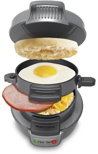 NEW Durable Hamilton Beach Counter Top Homemade Breakfast Sandwich Maker (grey)